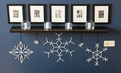Popsicle Stick Snowflake Craft - 15 Beautiful DIY Snowflake Decorations for Winter Popsicle Stick Christmas Crafts, Popsicle Stick Snowflake, Craft Stick Crafts, Holiday Crafts, Holiday Fun, Christmas Holidays, Diy Crafts, Popsicle Sticks, Popsicle Stick Crafts For Adults