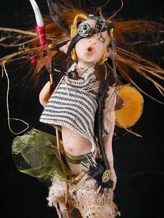 "ONE of a KIND PROSCULPT 6 ""SCALE FAIRY - WARRIOR TRIBE from MCASLAN OOAK OAD"