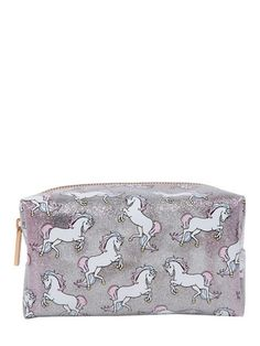 Skinnydip Glitter Unicorn Make Up Bag