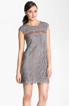 Suzi Chin for Maggy Boutique Cap Sleeve Lace Shift Dress | Nordstrom