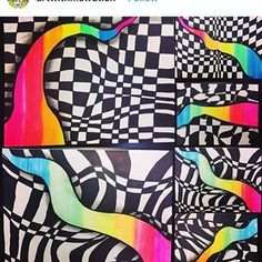 😍WOW😍 I am SO amazed by version of my Op Art lesson! That added shadow really makes the colors POP! My fifths are already…graders are blowing me away with their opart projects! This is by far the best (ie most visually appealing and successfu Kindergarten Art Lessons, Art Lessons For Kids, Art Lessons Elementary, Upper Elementary, Pop Art Drawing, Drawing Lessons, 7th Grade Art, School Art Projects, Middle School Art