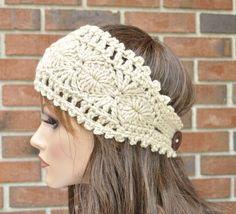Crochet+Patterns+Headbands | Original pattern Ear warmer Headband | Crochet