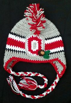 d6d0cedbcd3 Items similar to Ohio State Baby Hat Toddler Child Mohawk Winter Hat on Etsy