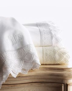 """Margo"" Sheet Sets by Matouk at Horchow."