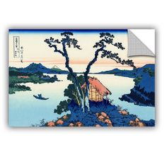 ArtWall ArtAppealz Katsushika Hokusai 'Lake Suwa In The Shinano Province' Removable Wall Art