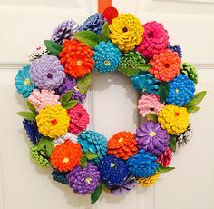 A personal favorite from my Etsy shop https://www.etsy.com/listing/274628566/zinnias-pinecone-wreath-door-hanger-door