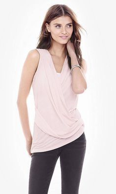 Pink One Eleven Surplice Tank | Express