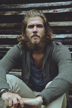 I like a man who looks like he can build me a log cabin.