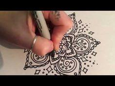 HowTo: make the most simple mandala! - YouTube