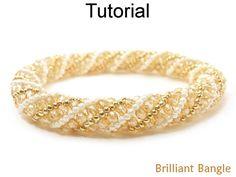 Beading Tutorial Pattern - Bangle Bracelet - Russian Spiral Stitch - Simple Bead Patterns - Brilliant Bangle #18667