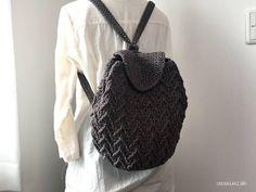 【編み図】ギザギザ模様のリュック – かぎ針編みの無料編み図 Atelier *mati*