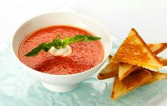 """Classics: Soup Roasted Tomato Soup with Miniature Grilled Cheese Sandwiches is a comforting option for """"late night snac"""