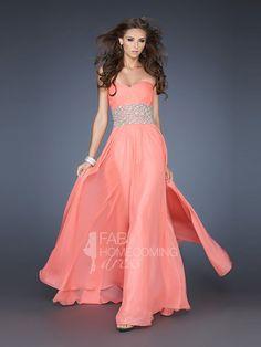 2013 Style A-line Sweetheart Beading Sleeveless Floor-length Chiffon Prom Dresses / Evening Dresses (SZ0301830) - FabHomecomingDress.com
