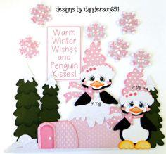 Winter-Penguin-Paper-Pieced-PreMade-Die-Cut-Scrapbook-Album-Border facebook - danderson651