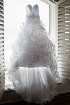 Marie's stunning wedding gown 14 Avenida 500, Pensacola Beach, FL www.CoastalSoirees.com