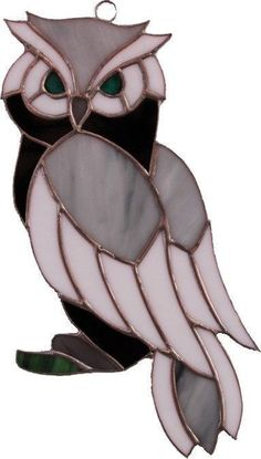"Stained Glass Owl Suncatcher  Order an oil painting of your pet now at <a href=""http://www.petsinportrait.com"" rel=""nofollow"" target=""_blank"">www.petsinportrai...</a>"