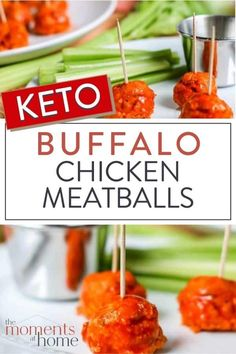 Enjoy these delicious keto buffalo chicken meatballs as a healthy, mouth-watering party appetizer, snack, lunch, or on your favorite salad. Quick and easy! Low Carb Appetizers, Appetizers For Party, Appetizer Recipes, Sugar Free Recipes, Low Carb Recipes, Healthy Recipes, Healthy Food, Low Carb Meatball Recipe, Buffalo Chicken Meatballs