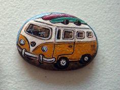 hand painted Mini bus VW, magnet via Etsy