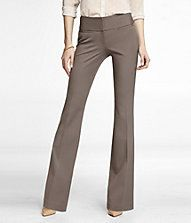 STUDIO STRETCH WIDE WAISTBAND FLARE EDITOR PANT- $70