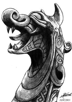 viking ship dragon bow by RaynalJacquemin.deviantart.com on @deviantART
