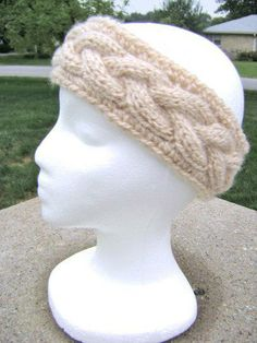 Prada inspired ear warmer knit pattern