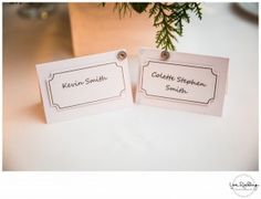 Light blush pink placecards for a lakeside wedding in Bucks County, PA