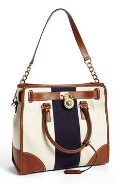MICHAEL Michael Kors 'Hamilton - Large' Canvas Tote available at #Nordstrom