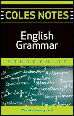 Coles Notes Study Guides  English Grammar