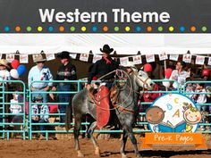 Western theme ideas and activities for your preschool, pre-k, and kindergarten classroom.
