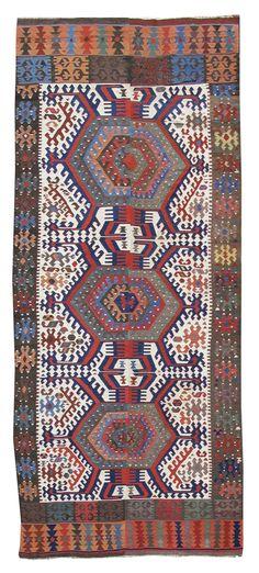 Turkish Konya kilim, mid 19th C.