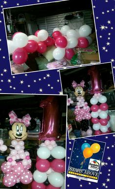 Minnie mouse birthday party balloon