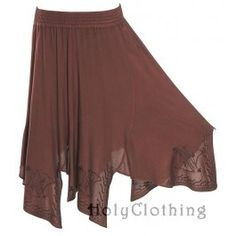 Shauna Mega Flare Embroidered Boho Gypsy Hippie Dance Skirt by HOLY CLOTHING