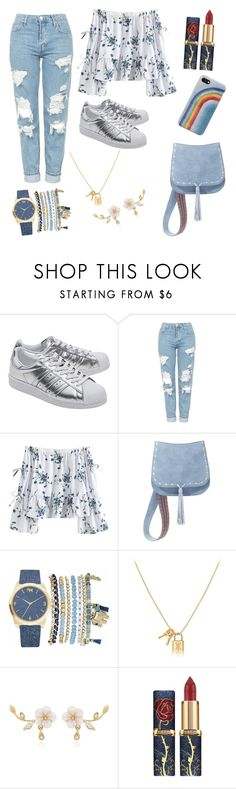 """""""Untitled #56"""" by paloma-lucas ❤ liked on Polyvore featuring adidas Originals, Topshop, Steve Madden, Mixit and Marc Jacobs"""