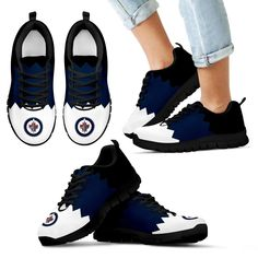 3b0003ab3f Incredible Line Zig Zag Disorder Beautiful Winnipeg Jets Sneakers. Air Max  ...