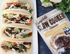 Easy Slow Cooker Korean BBQ Beef Tacos Family Fresh Meals, Easy Family Meals, Easy Weeknight Meals, Quick Easy Meals, Family Recipes, Slow Cooker Beef, Slow Cooker Recipes, Crockpot Recipes, Crock Pot Cooking