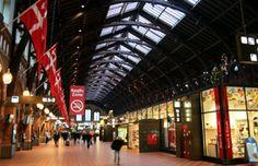 Inside Copenhagen main station.
