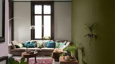 Dulux Paint Colours For Living Room 2017 Living Room 2017, Living Room On A Budget, Dulux Paint Colours Living Room, Dulux Valentine, Sainsburys Home, Trending Paint Colors, House Colors, Colorful Interiors, Living Room Designs