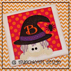 Witch Applique by MunchkymsDesign on Etsy, $2.00