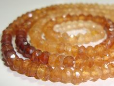 Hessonite Garnet Faceted Rondelles Beads Cinnamon by TerraFinds, $21.50