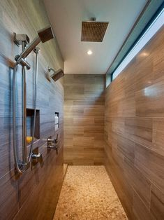 Shower Tile Patterns with Vaulted Ceiling Pedestal Sink Glass Checkerboard Luxury Master Bathrooms, Modern Master Bathroom, Modern Bathroom Design, Contemporary Bathrooms, Bathroom Interior, Small Bathroom, Bathroom Ideas, Bathroom Designs, Shower Bathroom