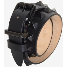 Barbara Bui Studded Belt Bracelet: Black ($129) ❤ liked on Polyvore featuring jewelry, bracelets, accessories, adjustable leather belt, leather belt, polish jewelry, punk rock jewelry and studded leather belt
