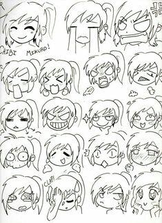 """Résultat de recherche d'images pour """"expression visage chibi"""""""