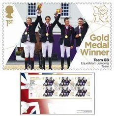 Large image of the Team GB Gold Medal Winner First Day Cover - Scott Brash, Peter Charles, Ben Maher, Nick Skelton