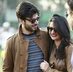 Sadaf Khan and Fawad Khan Actors Images, Tv Actors, Actors & Actresses, Fawad Khan Beard, Good Looking Actors, Pakistani Actress, Cute Swimsuits, Bollywood Actors, Celebrity Couples