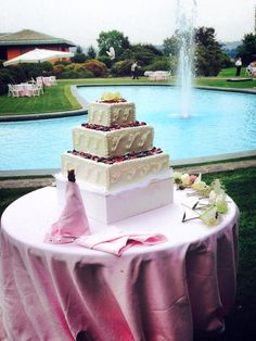 Torta e piscina