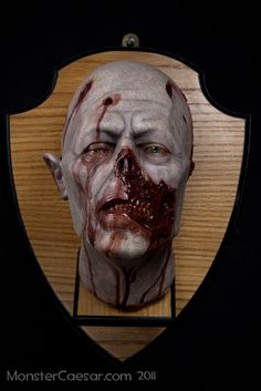 Realistic Wall Mounted Taxidermy Zombie Head