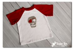 Boy's Skull Heart Valentine Shirt - Sugar Bee Crafts