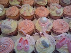 Baby shower cupcakes.