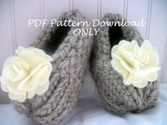 Loom Knit Shabby Chic Bootie Pattern PDF Download Only.