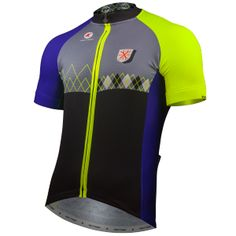 Argyle Cycling Jersey by Katherine Hall Men's | Artist-Inspired Cycling Apparel | Pactimo